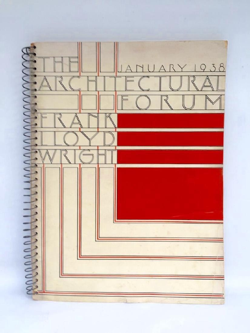 Architectural Forum 1938 Frank Lloyd Wright 1st Edition