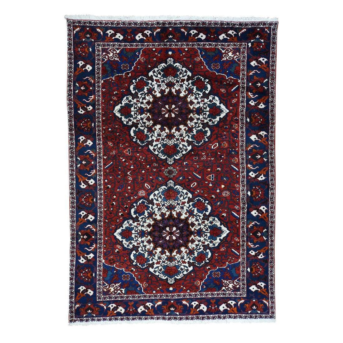 Hand-Knotted Persian Bakhtiari Rug 7x10