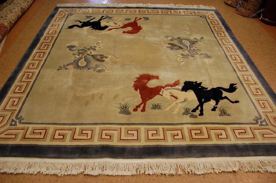 Art Deco Super Imperial Chinese Rug 8.7x8.7