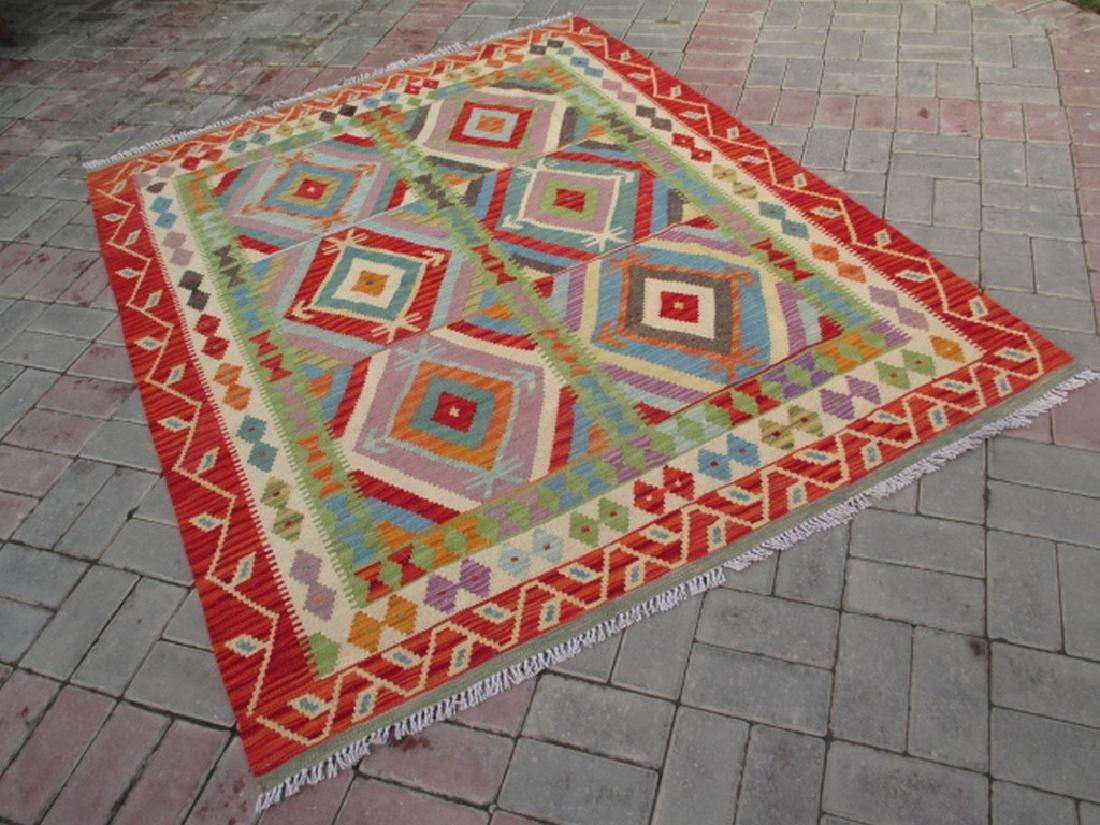 Quality Hand Woven Chobi Kilim Rug  6.8x5.2