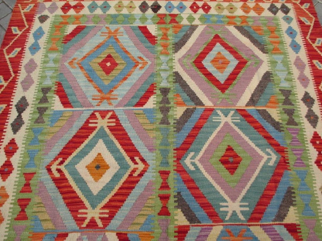 Quality Hand Woven Chobi Kilim Rug  6.8x5.2 - 2