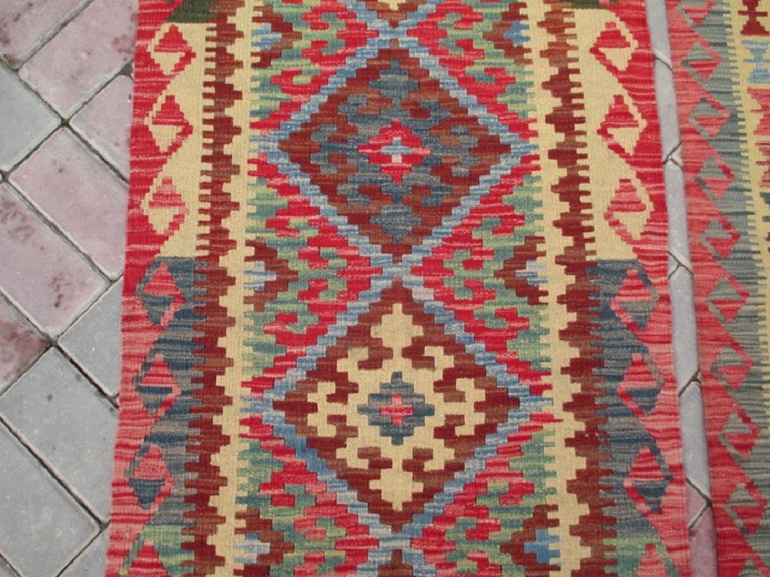 2 Hand Woven Chobi Kilim Rugs 6.1x2.2 & 6.7x2.2 - 3