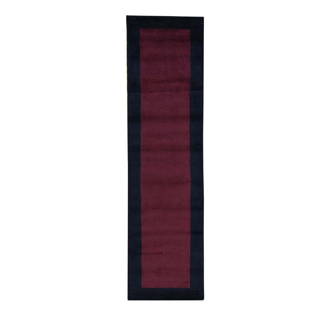 Modern Nepali Pure Wool Hand-Knotted Runner Rug 2.7x9.8