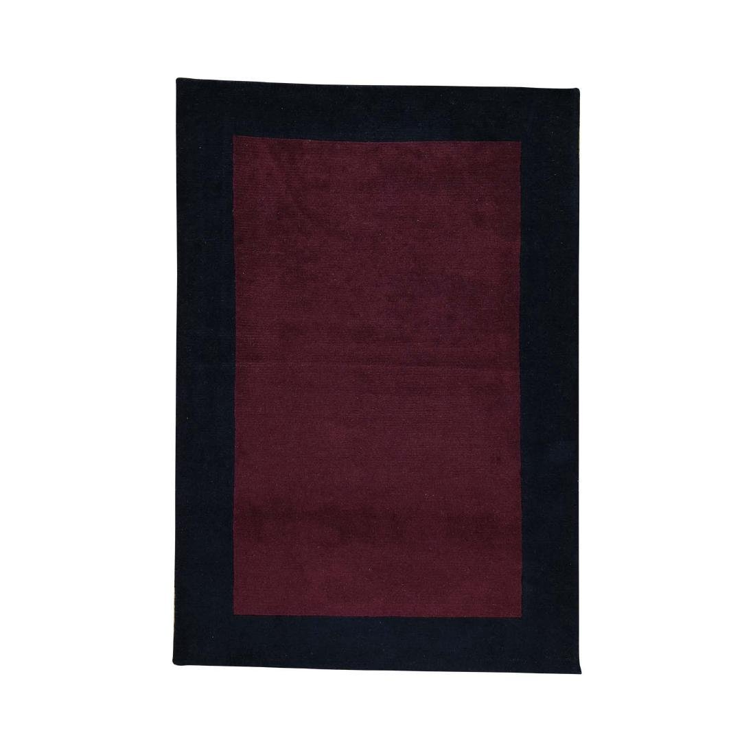 Hand-Knotted Pure Wool Modern Nepali Rug 4x5.10