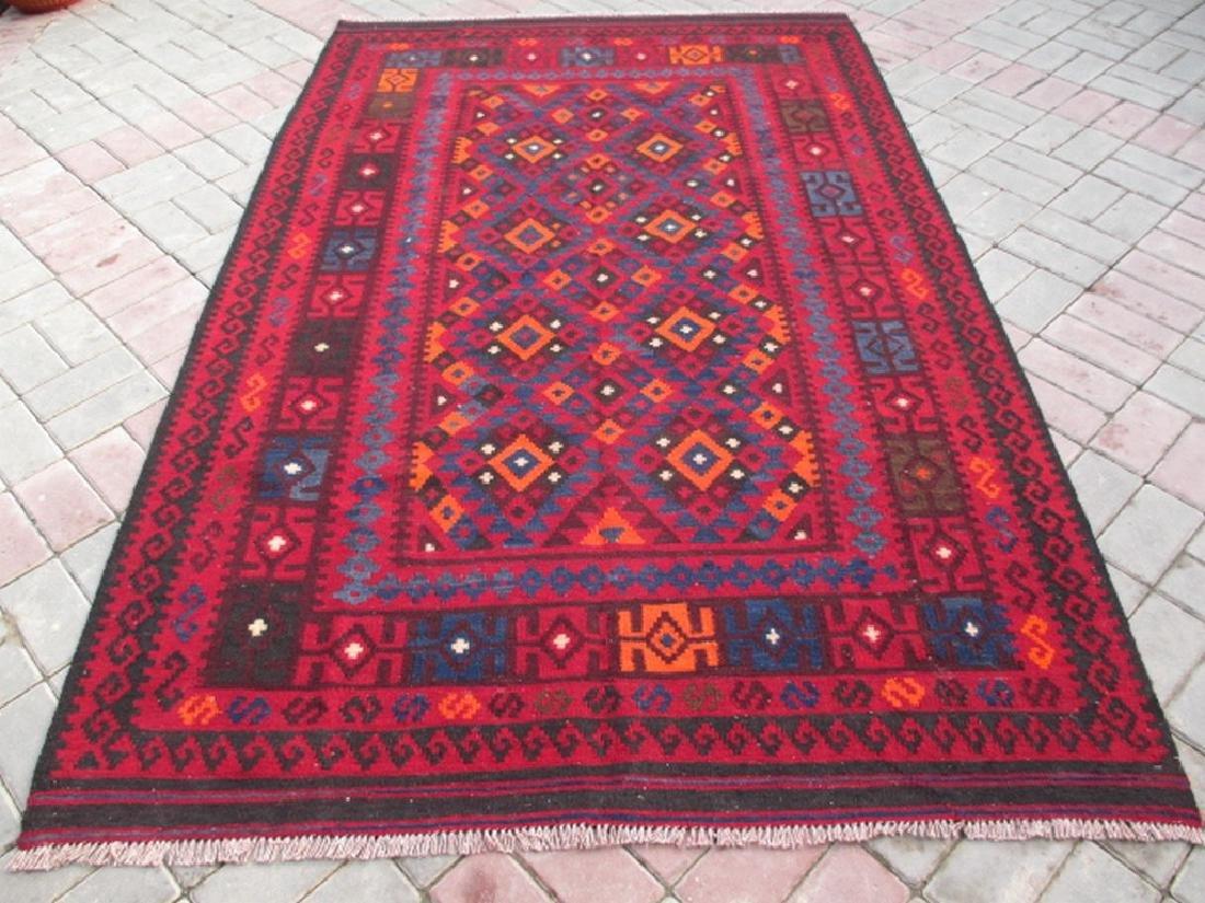 Quality Ghalmori Hand Woven Wool Kilim Rug 7.10x4.10
