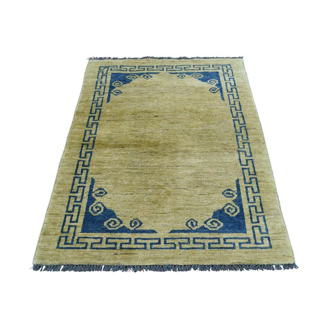 Hand-Knotted Peshawar With Knotan Design Rug 2.9x4.1