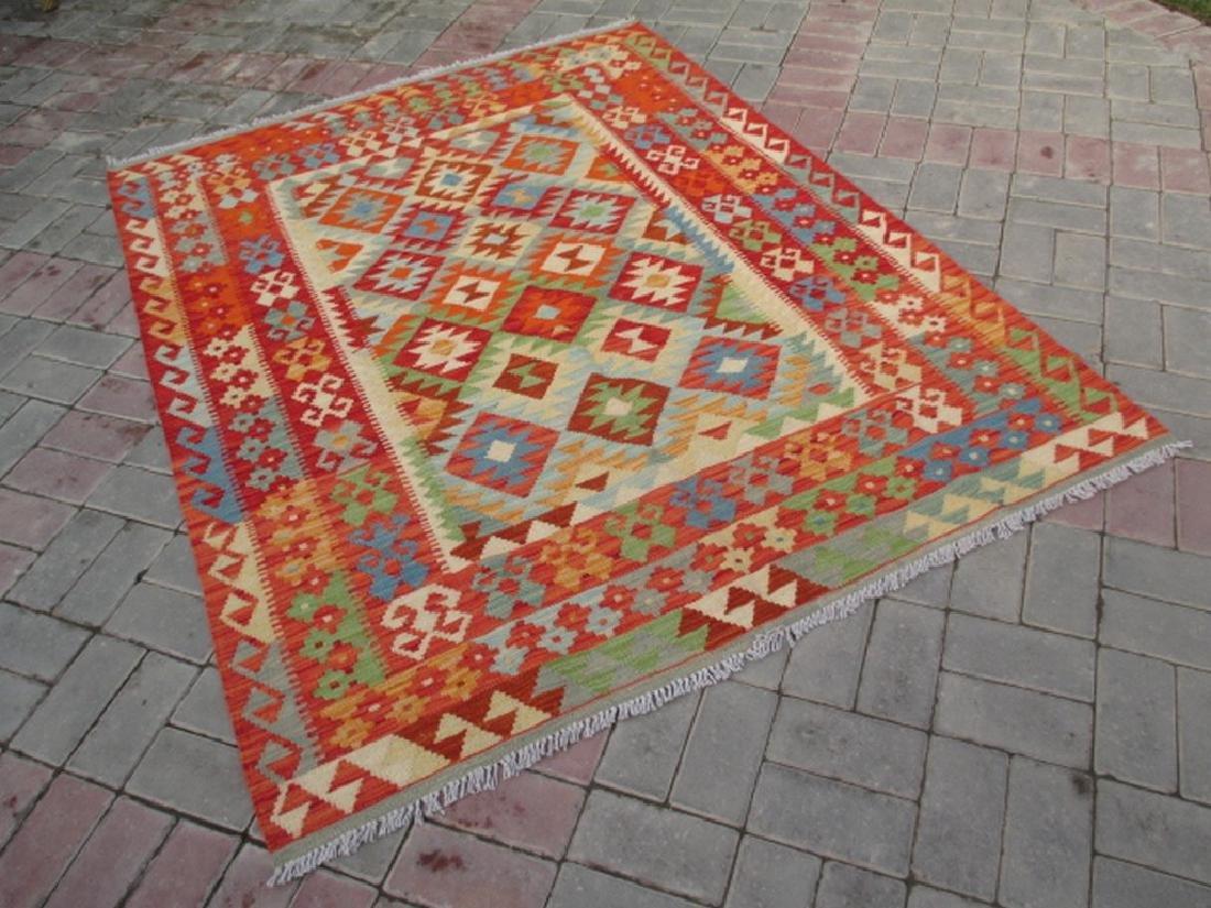 Quality Hand Woven Chobi Kilim Rug  6.5x5.2