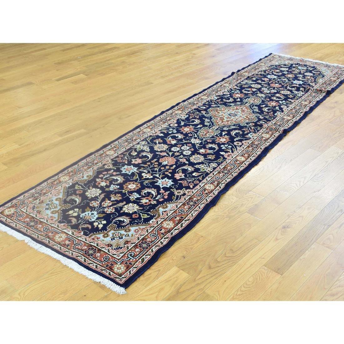 Handmade Persian Hamadan Runner Oriental Rug 2.8x10.2 - 4