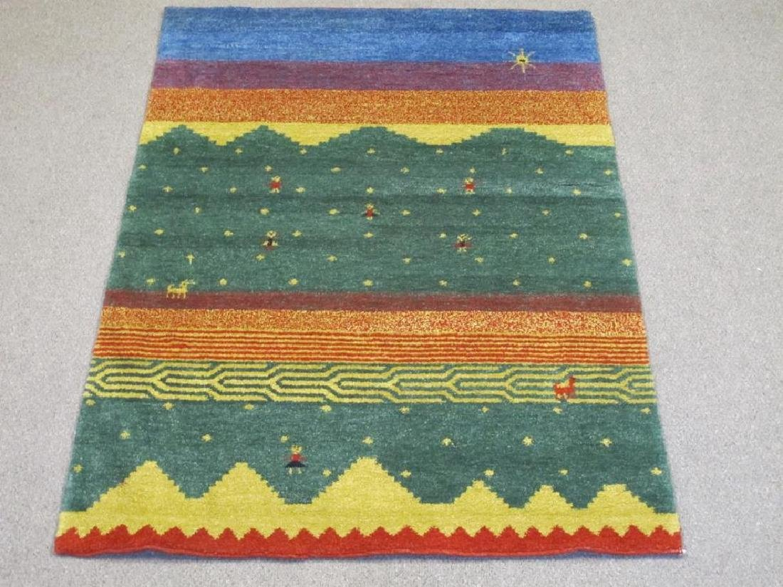 Strong and Sturdy Handmade Indo Gabbeh Rug 6x9