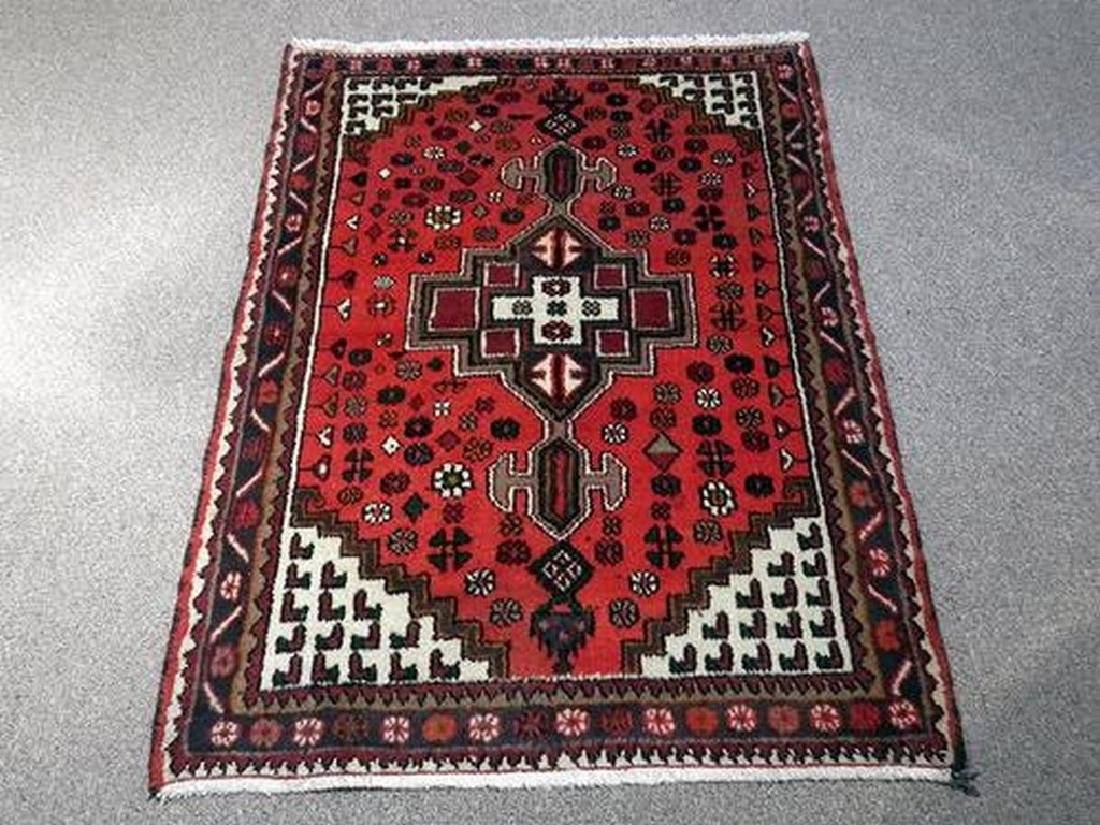 Delicate Hand Woven Authentic Hamedan Rug 4.9x3.3