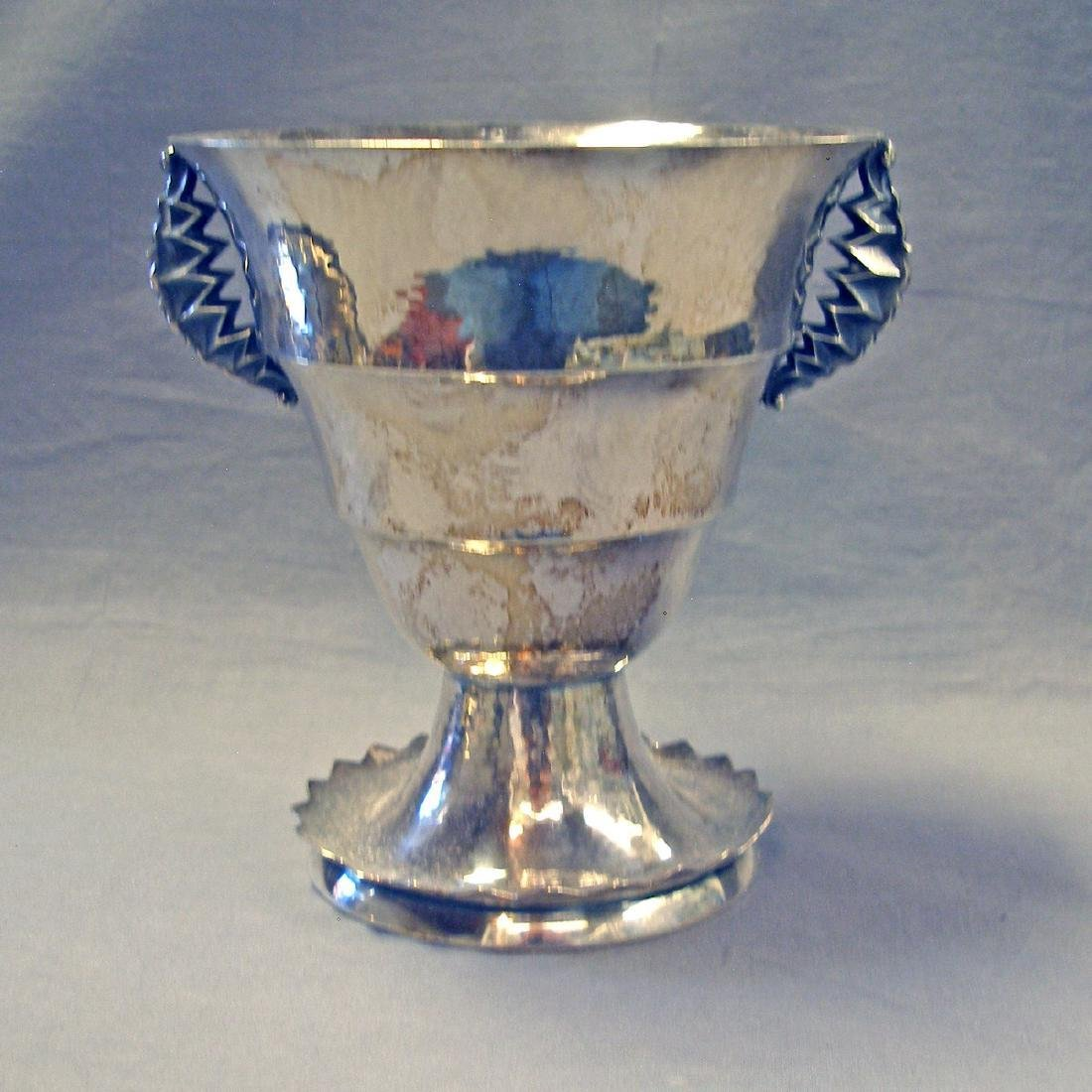 German Sterling Silver Deco Trophy Vase