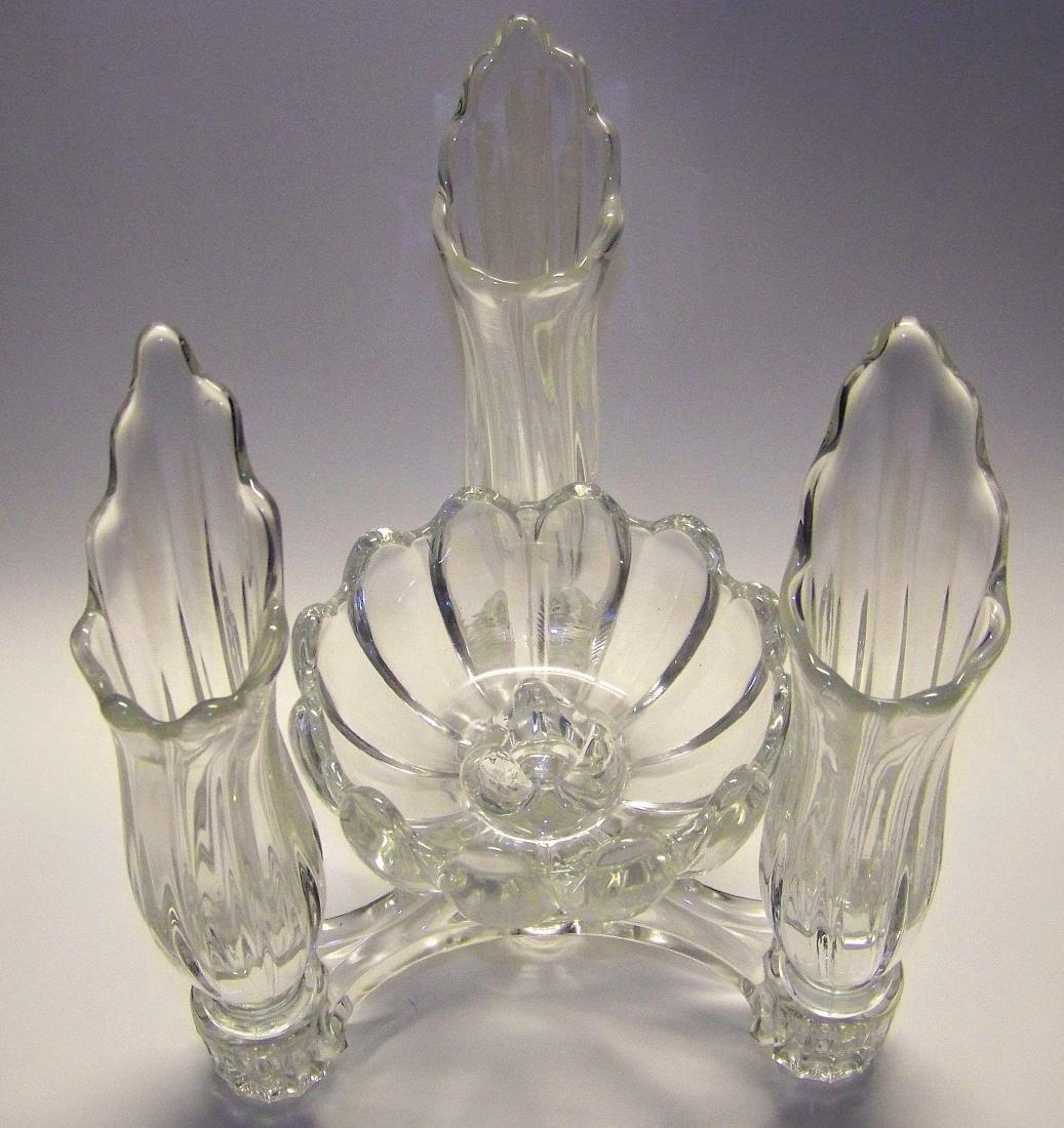 Vintage Cambridge Glass Company Epergne - 3