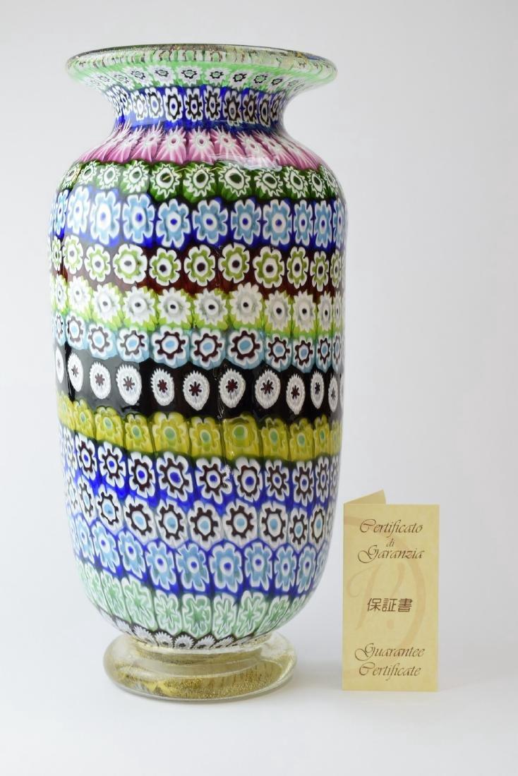 Italian Murano Amedeo Rossetto Millefiori Glass Vase - 10