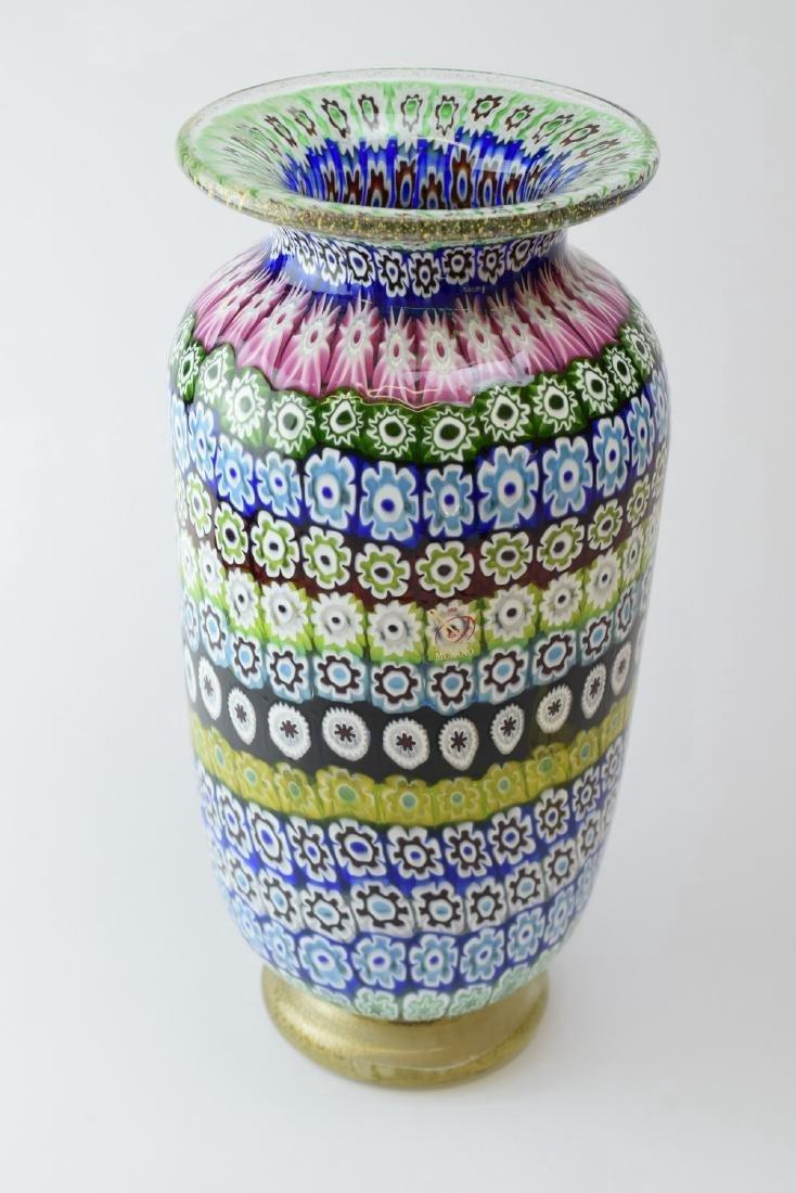 Italian Murano Amedeo Rossetto Millefiori Glass Vase - 2