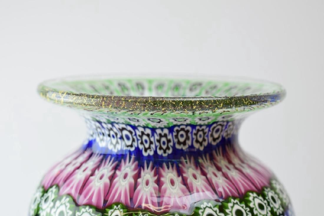 Italian Murano Amedeo Rossetto Millefiori Glass Vase - 3