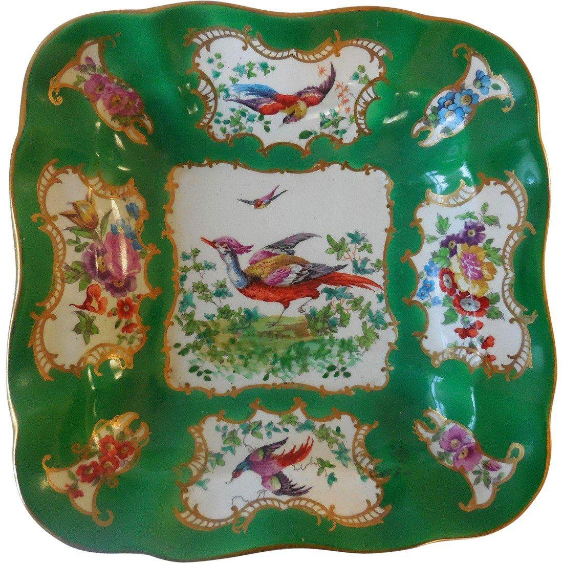 19th Century Chelsea Bird Vegetable Bowl