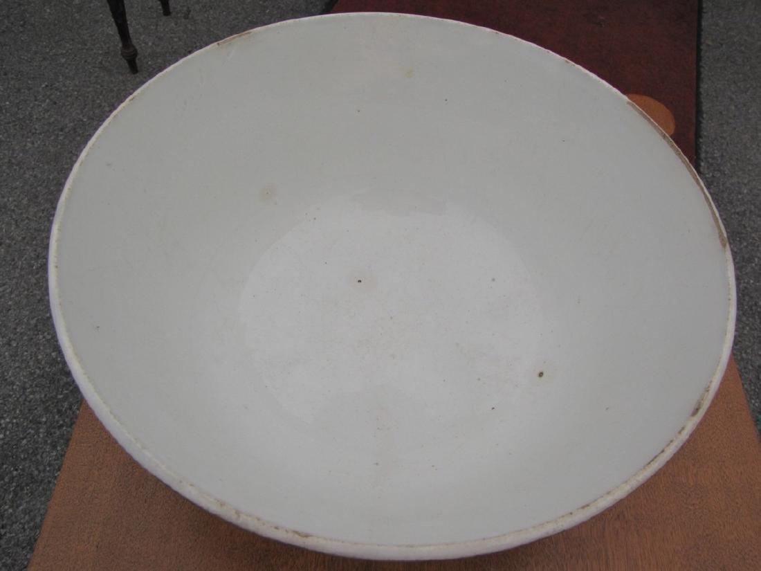 Large Mocha Bowl with Earthworm Decoration, Celadon - 4