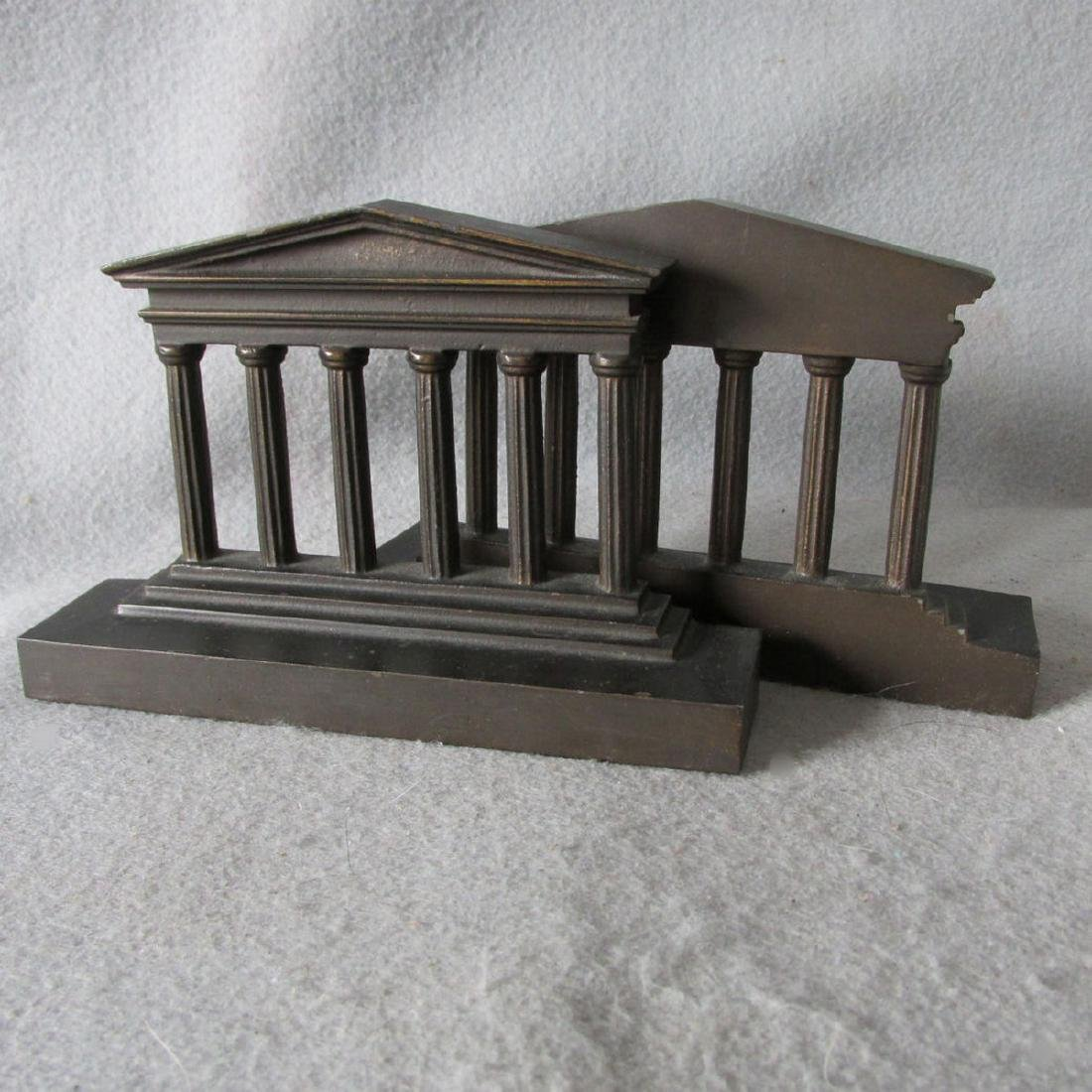 Antique Architectural Column Cast Iron Bookends