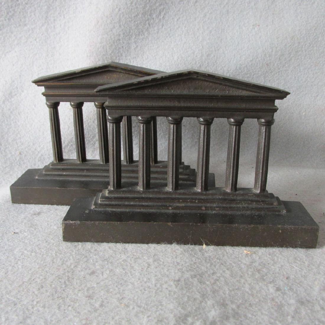 Antique Architectural Column Cast Iron Bookends - 2