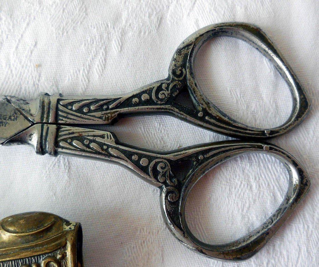 Antique Art Nouveau Scissors & Letter Opener Set - 5