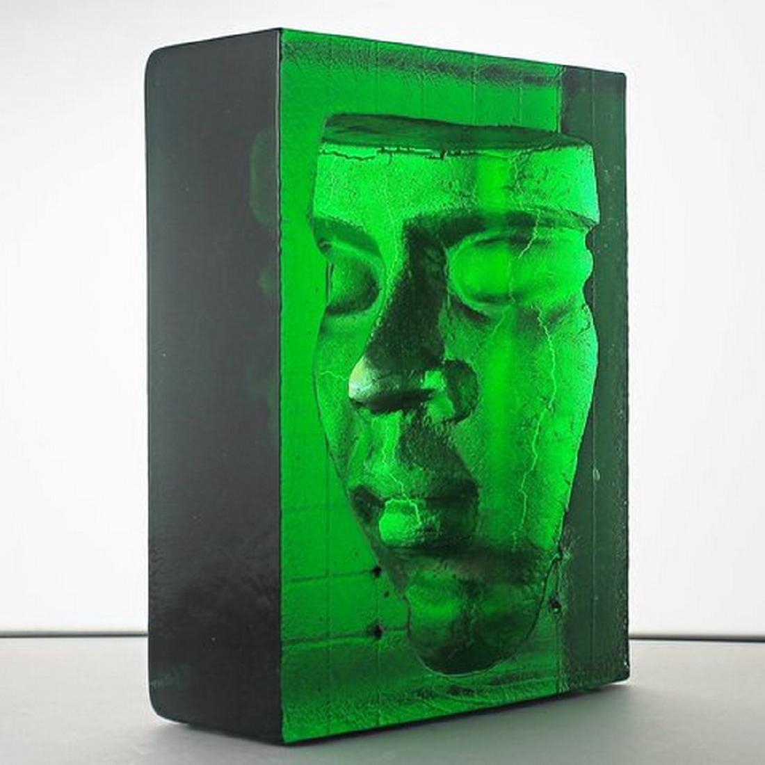 "Bertil Vallien - Kosta Boda ""Boheme"" Block/Sculpture"