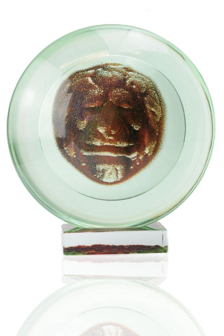 PINO SIGNORETTO Lion of Venice Murano Glass Sculpture