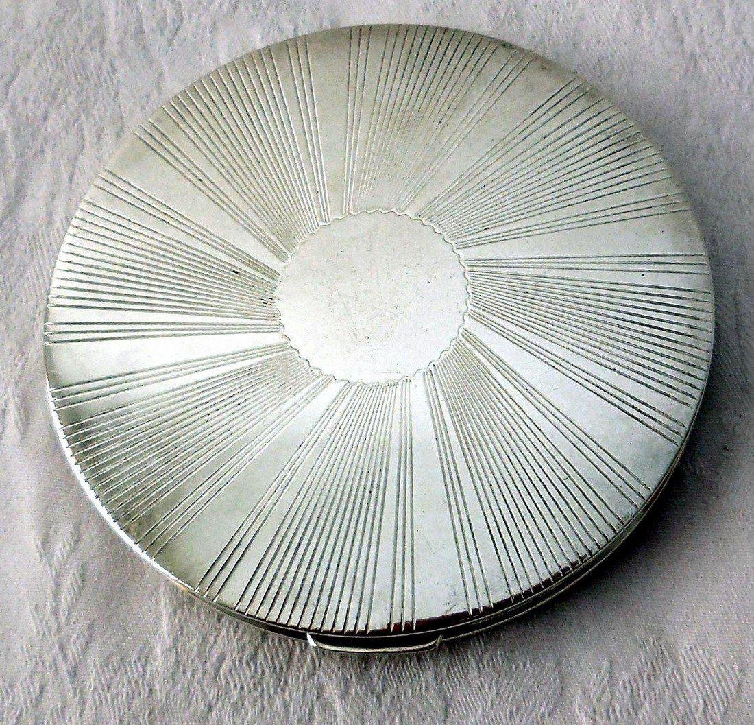 Vintage Art Deco Sterling Silver Compact - 2