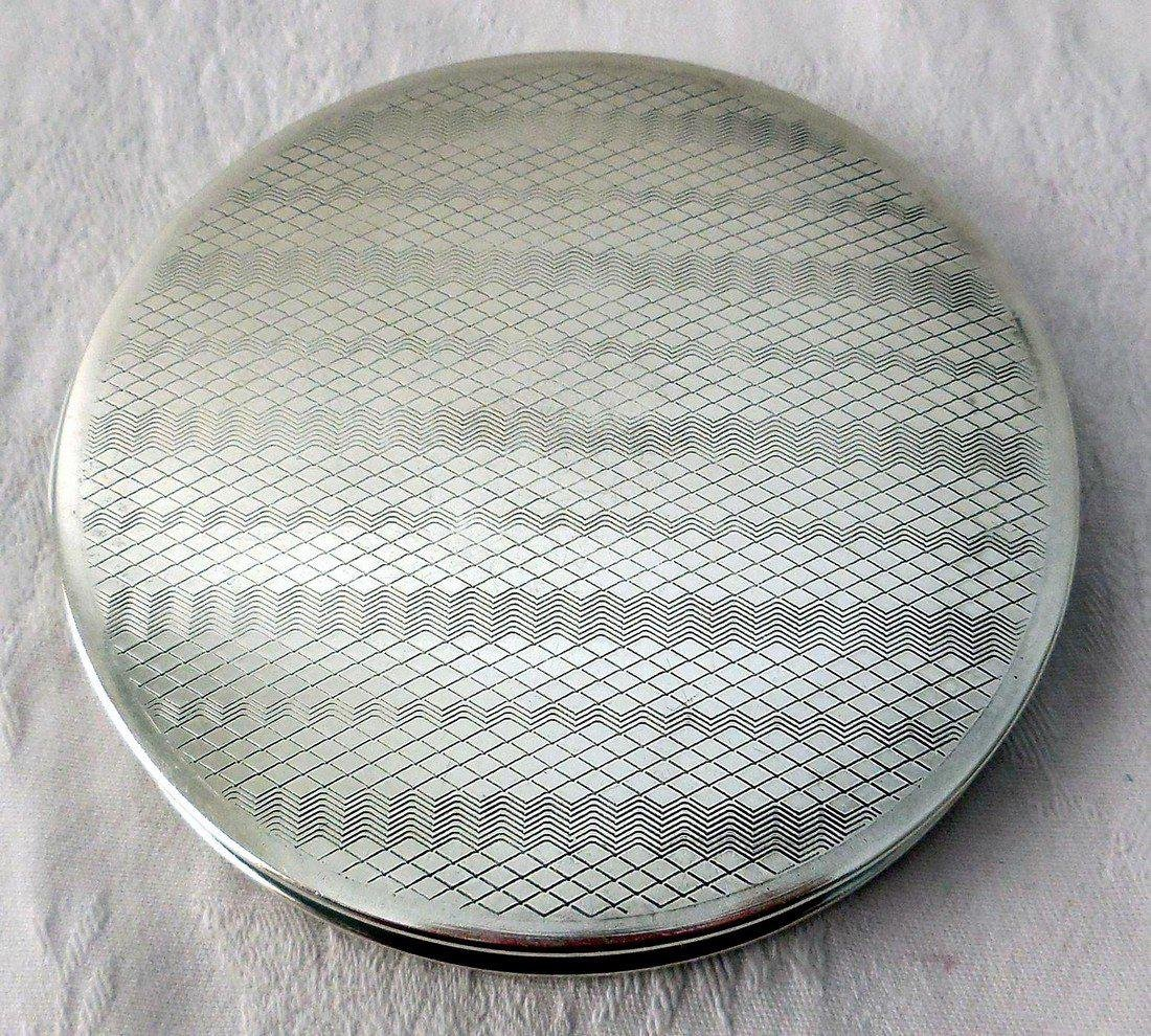 Vintage Art Deco Sterling Silver Compact - 3