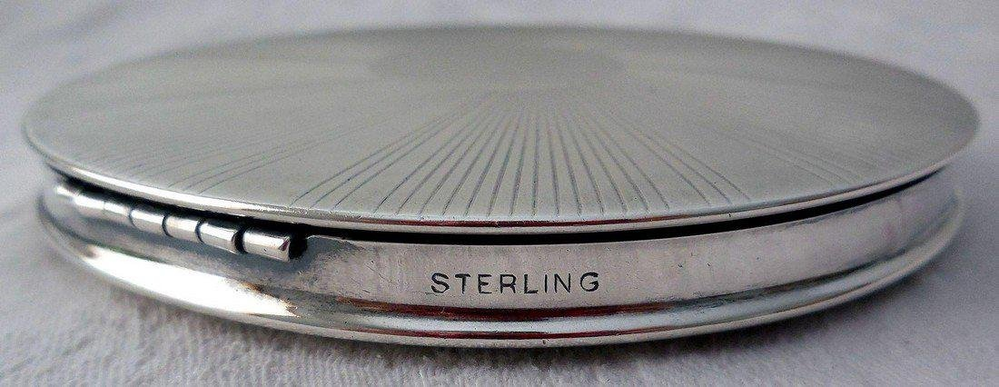 Vintage Art Deco Sterling Silver Compact - 5