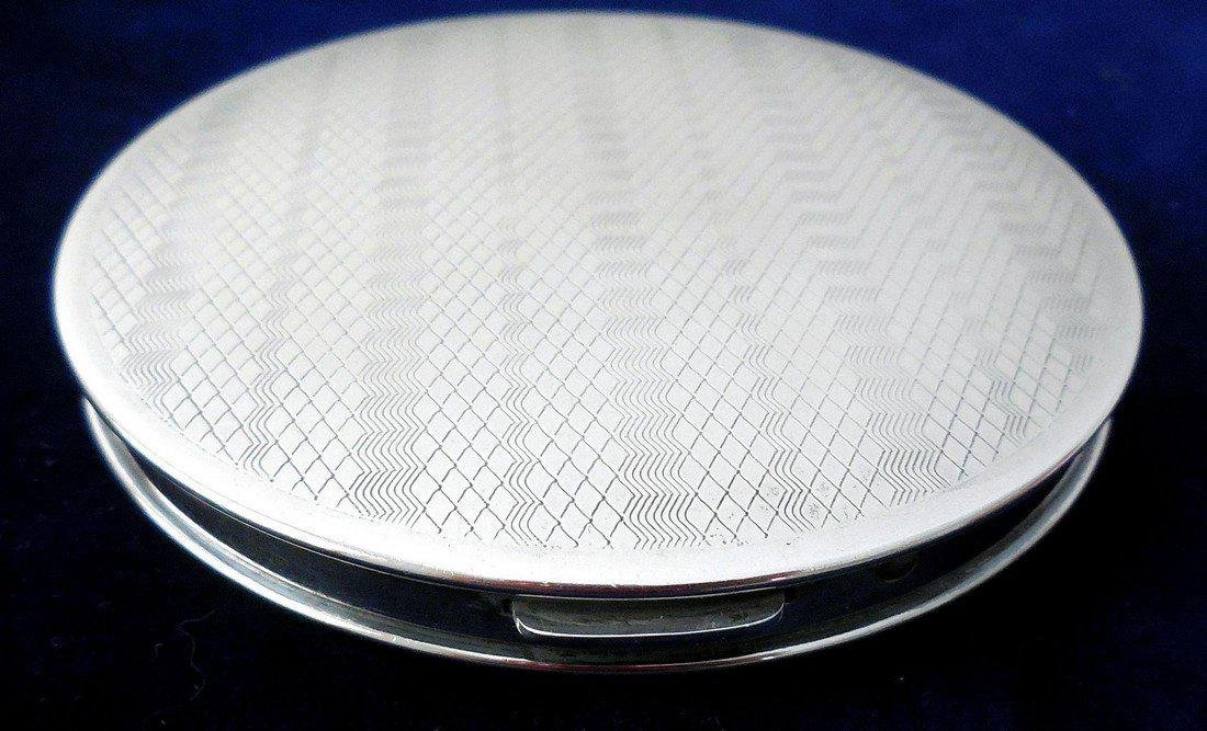 Vintage Art Deco Sterling Silver Compact - 6