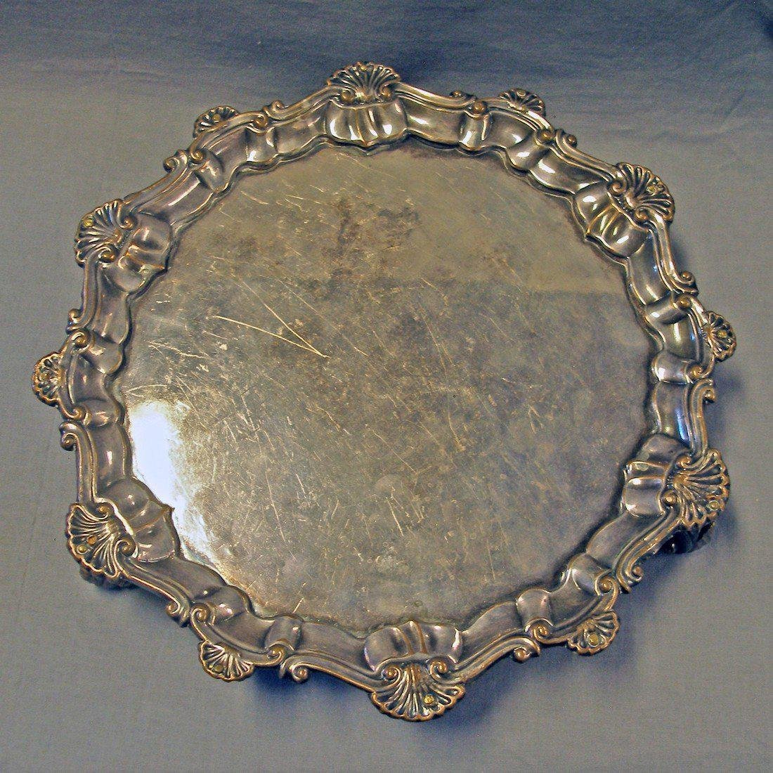 Antique Sheffield Plate Salver, c1770