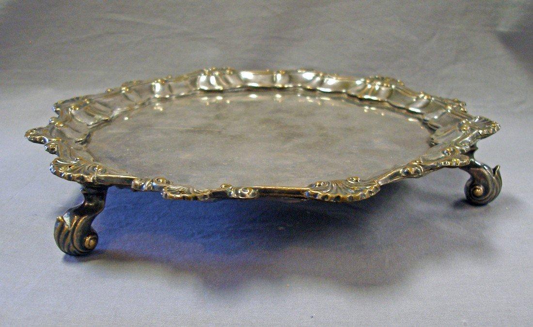 Antique Sheffield Plate Salver, c1770 - 2
