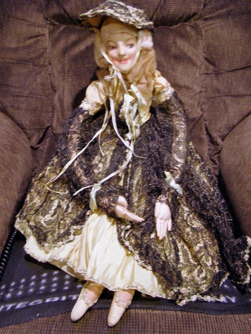 French Ballerina Boudoir Doll / Bed / Salon Doll in