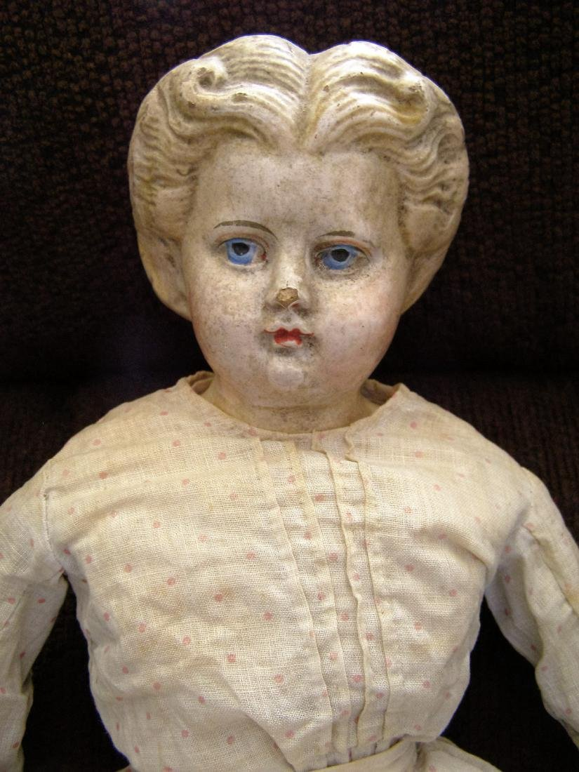 Blonde Greiner #6 Doll 1858 with Label and Nice Old