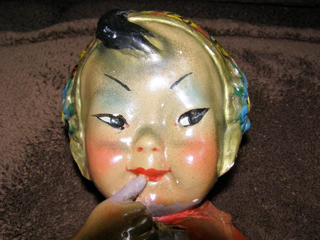 Cutie Sing - Joe Celona Chalkware Bust of Asian Child -