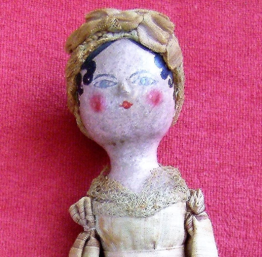 1800s Grödnertal Wooden Doll Made in Germany + Piece of