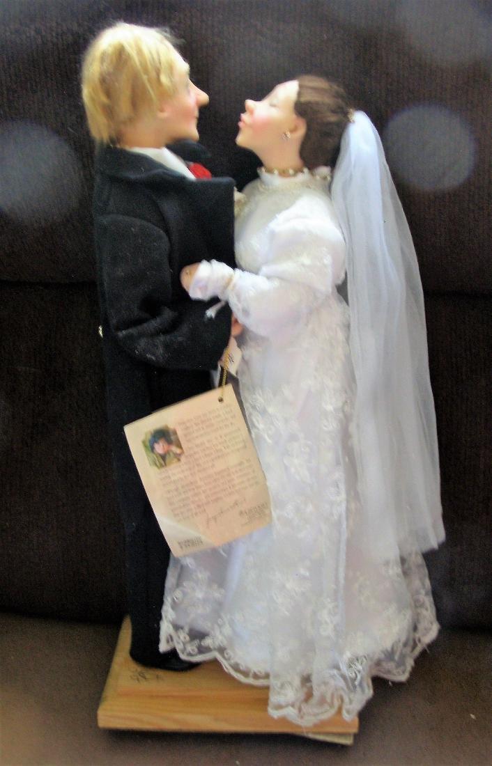 Jacqueline Kent SIGNED Wedding Day Bride & Groom - Town