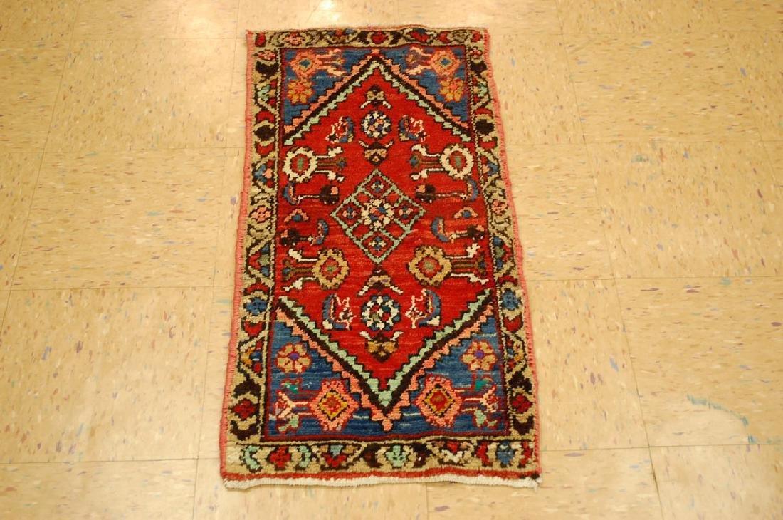 Detailed Subjects Design Fine Persian Heriz Rug 1.6x3.2
