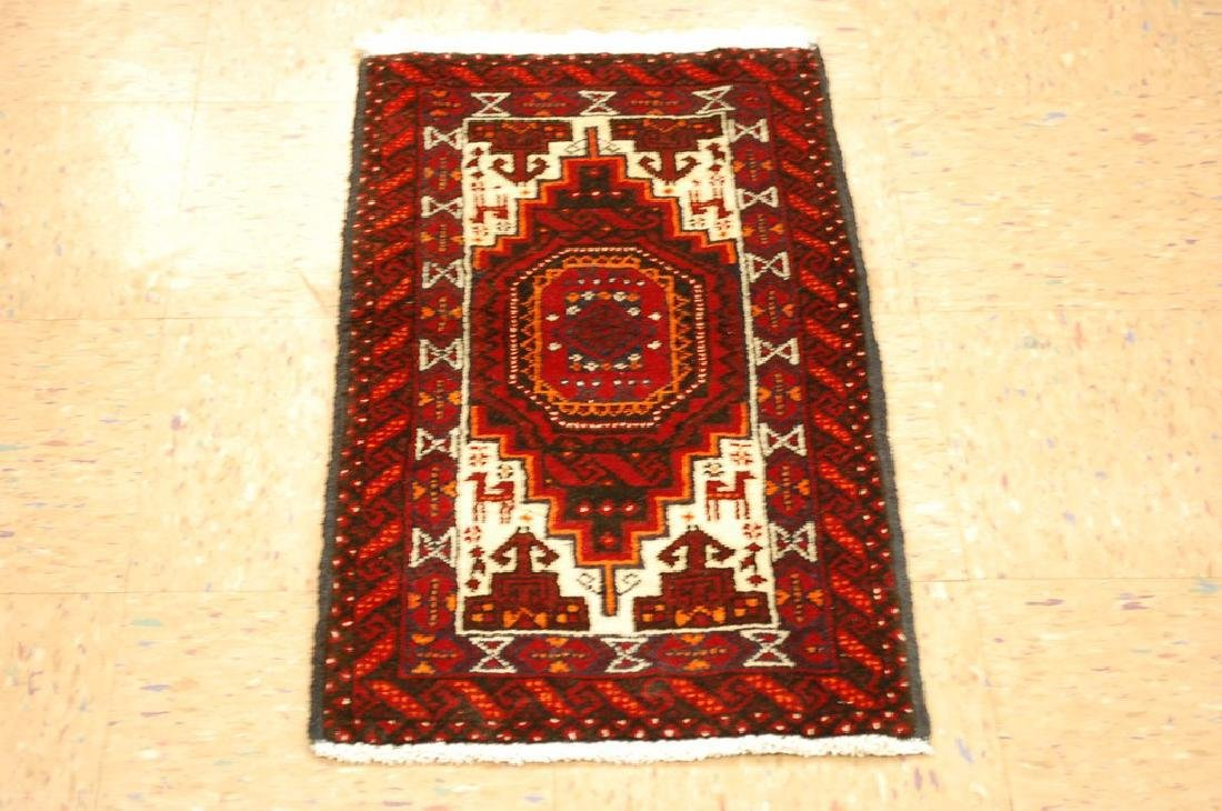 Animal Subject Unique Persian Balouch Rug 1.6x2.8