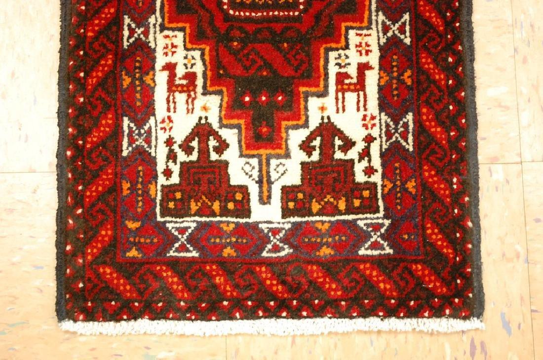 Animal Subject Unique Persian Balouch Rug 1.6x2.8 - 2