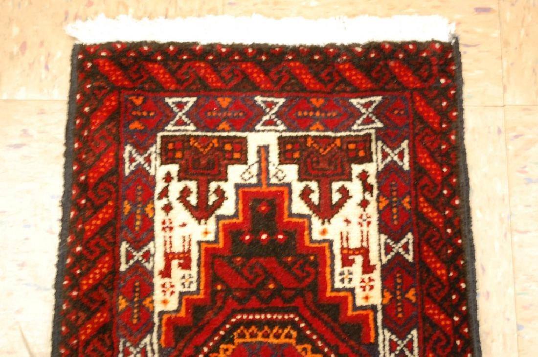 Animal Subject Unique Persian Balouch Rug 1.6x2.8 - 3