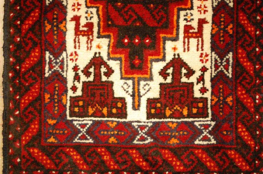 Animal Subject Unique Persian Balouch Rug 1.6x2.8 - 4