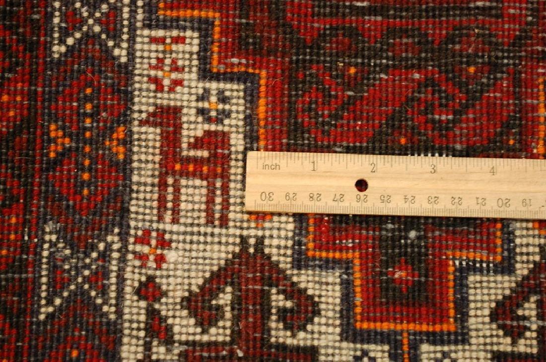 Animal Subject Unique Persian Balouch Rug 1.6x2.8 - 6