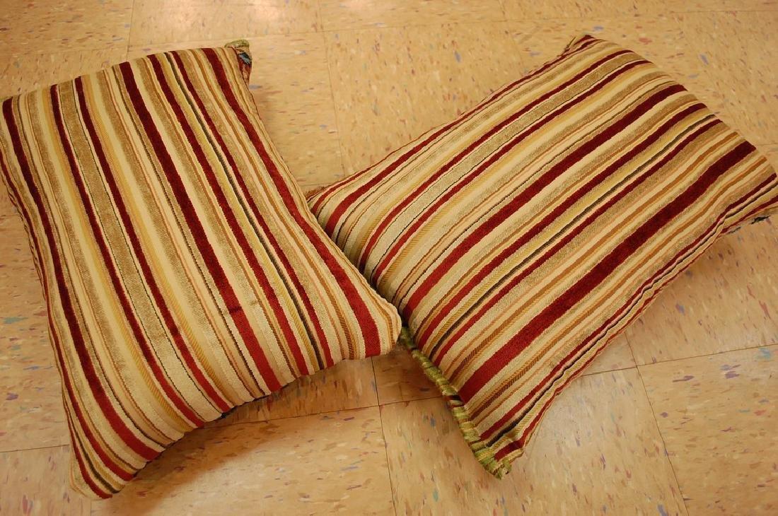 2 Fine Lavar Kerman Antique Rug Pillows 1.2x1.8 - 5