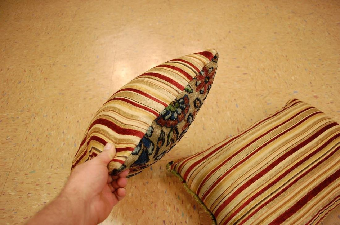 2 Fine Lavar Kerman Antique Rug Pillows 1.2x1.8 - 6