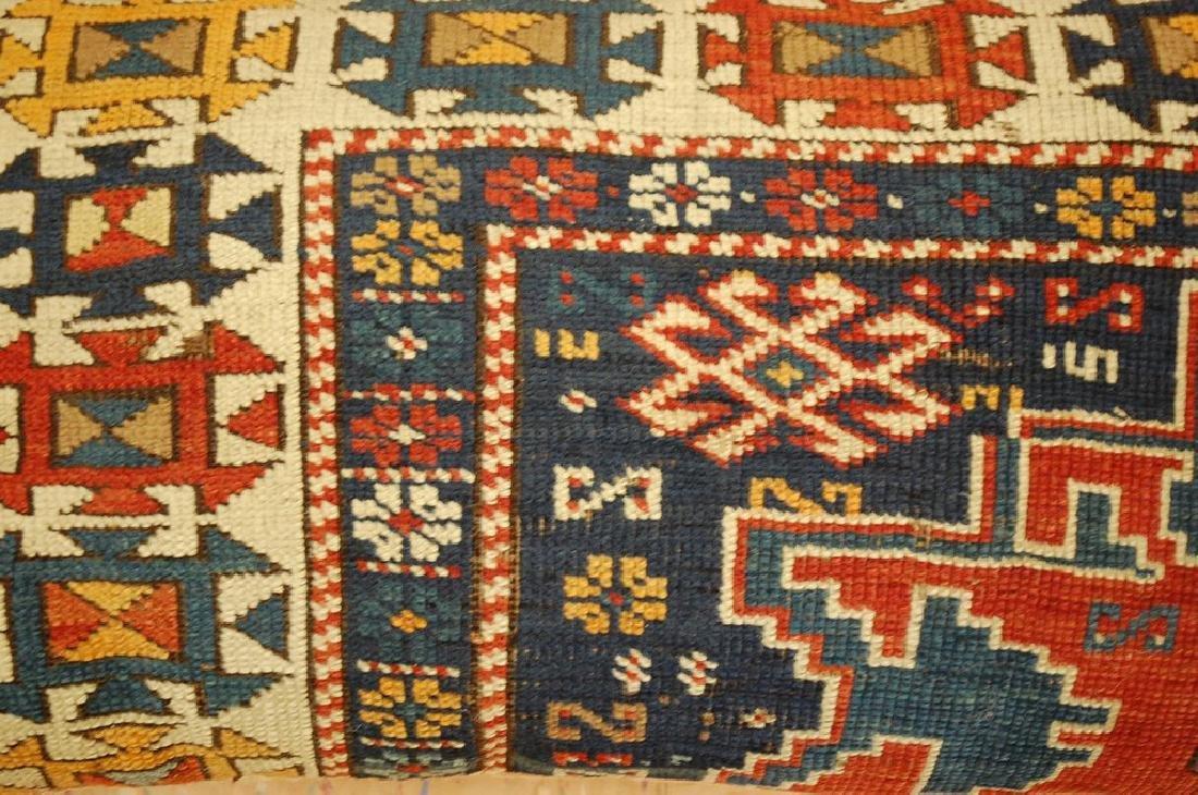 Fine Caucasian Shirvan Antique Rug Pillow 1.4x1.8 - 2