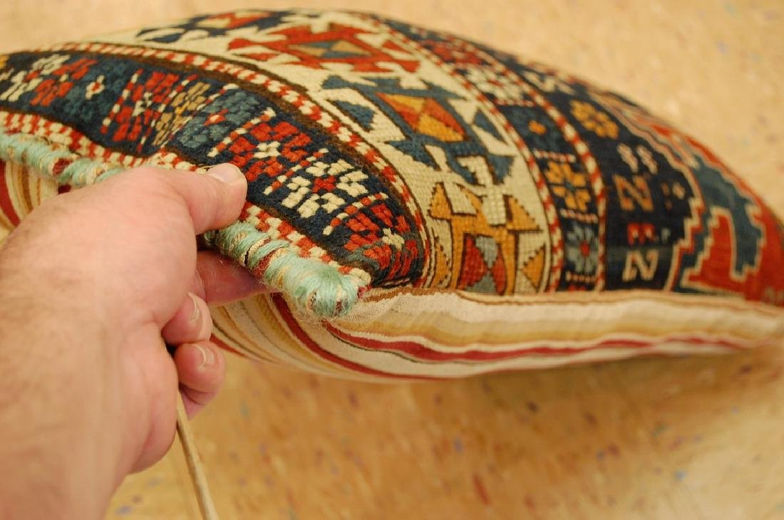 Fine Caucasian Shirvan Antique Rug Pillow 1.4x1.8 - 3