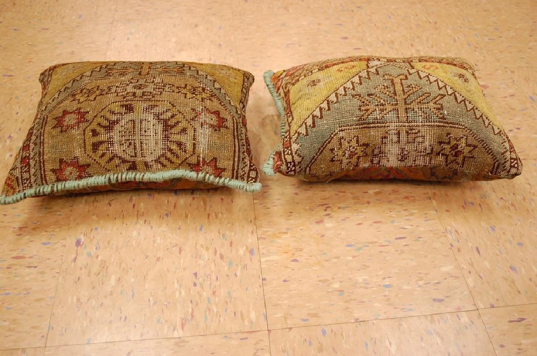 2 Fine Turkish Melas Antique Rug Pillows 1.2x1.5 - 4