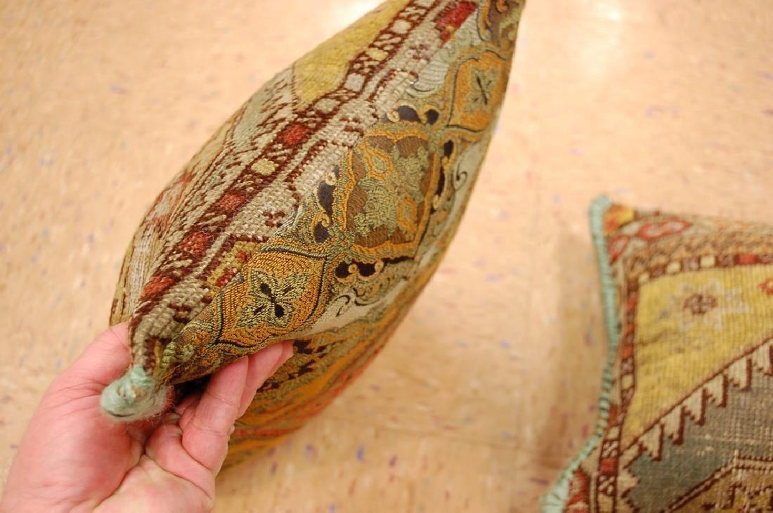 2 Fine Turkish Melas Antique Rug Pillows 1.2x1.5 - 5