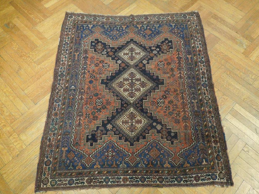 Tribal Hand Knotted Antique Persian Rug 4.5x5.3